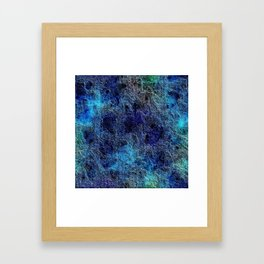 Colorful Cool Rich Jewel Tones Blue Abstract Framed Art Print