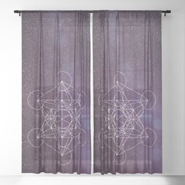 Star of Metatron Sheer Curtain