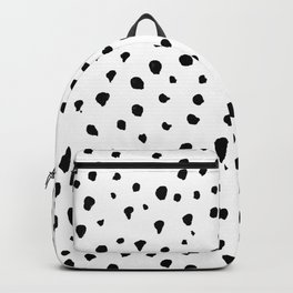 Dalmatian dots black Backpack