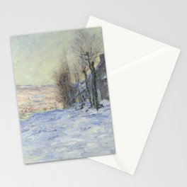 Lavacourt under Snow Stationery Cards