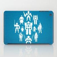 heroes iPad Cases featuring Plastic Heroes by powerpig