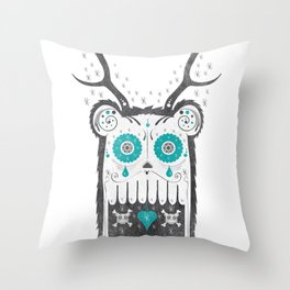 SALVAJEANIMAL MEX cuernitos Throw Pillow