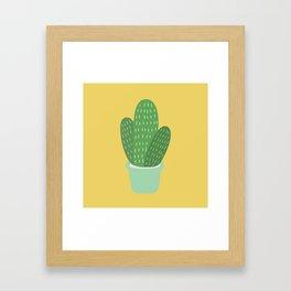 Cute Cactus Illustration Framed Art Print