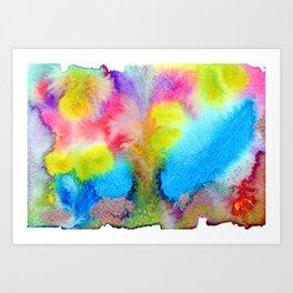 Surreal Volcano That Erupts Colored Lava Art Print