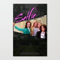 heathers Canvas Prints featuring THE HEATHERS TAKE A #SELFIE by Mikey Pop Designs