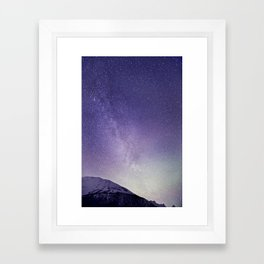 Milky Way in Tromsø, Norway Framed Art Print