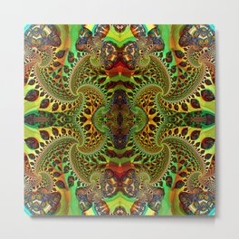 Psychedelic Fractal Geometry - different perspective Metal Print