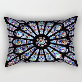 Cathedral Stained Glass Rectangular Pillow