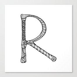 Monogram letter R Canvas Print