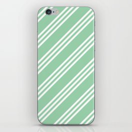 Mint Green Large/Small/Small Stripes iPhone Skin