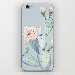 Prettiest Rose Cactus Blue iPhone Skin
