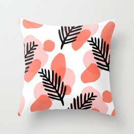 palms and blobs Throw Pillow