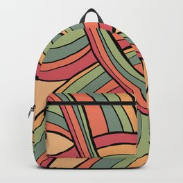 Rolling Waves Of Peachy Panic Backpack