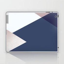 Geometrics - blush indigo rose gold Laptop & iPad Skin