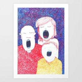 Singing Art Print