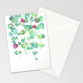 Lizu's string of hearts Stationery Cards