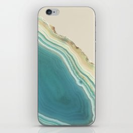 Geode Turquoise + Cream iPhone Skin