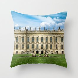 Chatsworth House Throw Pillow