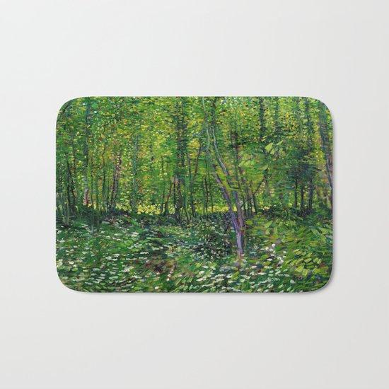 Vincent Van Gogh Trees & Underwood Bath Mat
