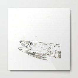 Fish Face 3 Metal Print