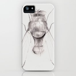 The Fly on White iPhone Case