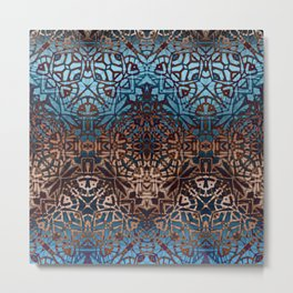 Ethnic Tribal Pattern G329 Metal Print