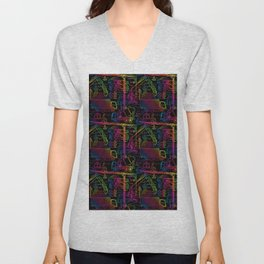 Rainbow Sprinkle Construction Site Unisex V-Neck