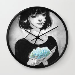 Never Forget Me Flowers Wall Clock