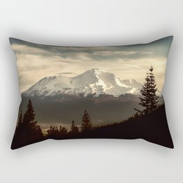 Mount Shasta Waking Up Rectangular Pillow
