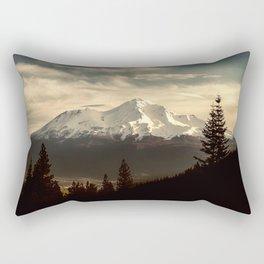 Mount Shasta Waking Up Rectangular Pillow