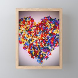 Heart of Rainbow Sprinkles Framed Mini Art Print