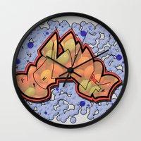 bazinga Wall Clocks featuring Skittle-Bazinga by Jacob Clark