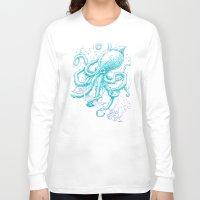kraken Long Sleeve T-shirts featuring Kraken by pakowacz