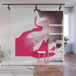 Abstract Composition Hot Time Wall Mural