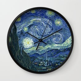 Starry night Vincent vang Gogh reprint Wall Clock