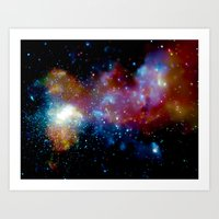 milky way Art Prints featuring Milky Way by Upperleft Studios
