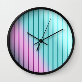 Rainbow . Striped rainbow pattern . Wall Clock