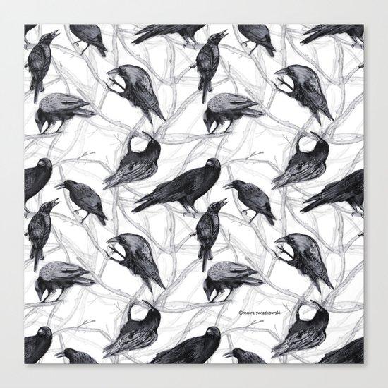 Crow Pattern Canvas Print