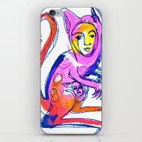 kangaroo iPhone & iPod Skins featuring Kangaroo by Dawn Patel Art