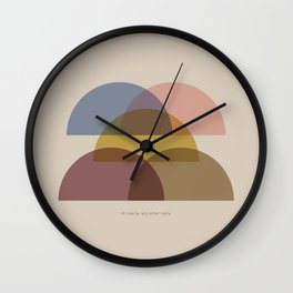 Rose Two Wall Clock
