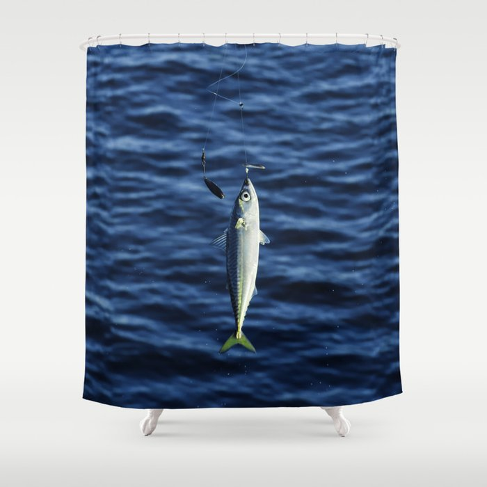 Hook, Line, and Sinker Shower Curtain