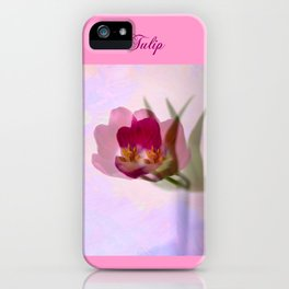 Ethereal tulip iPhone Case