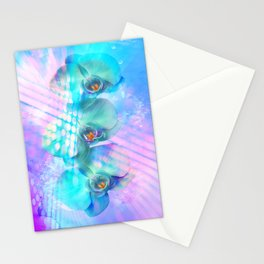 Orchidee in blau - Orchid in blue Stationery Cards
