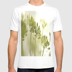 Something green and delicate White MEDIUM Mens Fitted Tee
