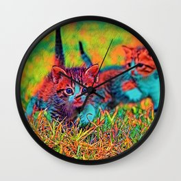 AnimalColor_Cat_ 004_by_JAMColors Wall Clock