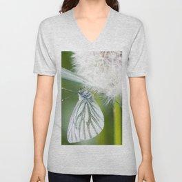 Butterfly dandelion Unisex V-Neck