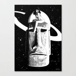 Intergalactic Moai Pin Up Canvas Print