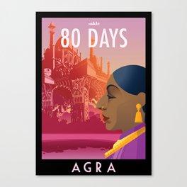 80 Days : Agra Canvas Print