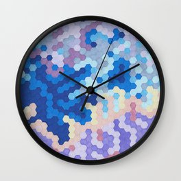 Nebula Hex Wall Clock