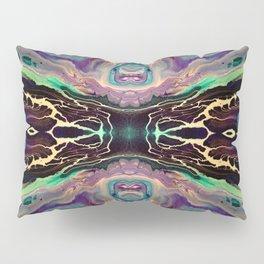 Purple Abstract Art Design - Fluid Acrylics Pillow Sham
